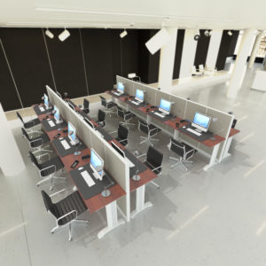 8 Person Fabric Workstation