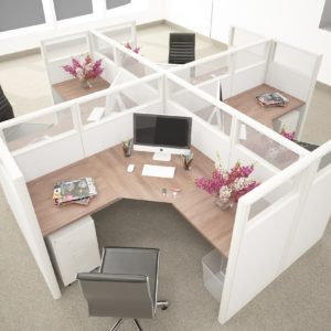 L Shaped Office Cubicles