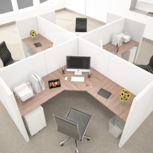 QUAD L Shape Workstations