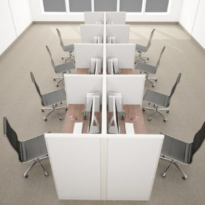 4x2 Telemarketing Cubicle